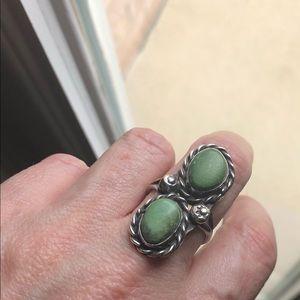 Vintage estate sale turquoise sterling ring